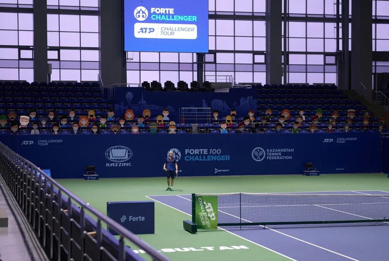 Court centrale des tournois Forte Challenger à Nur-Sultan