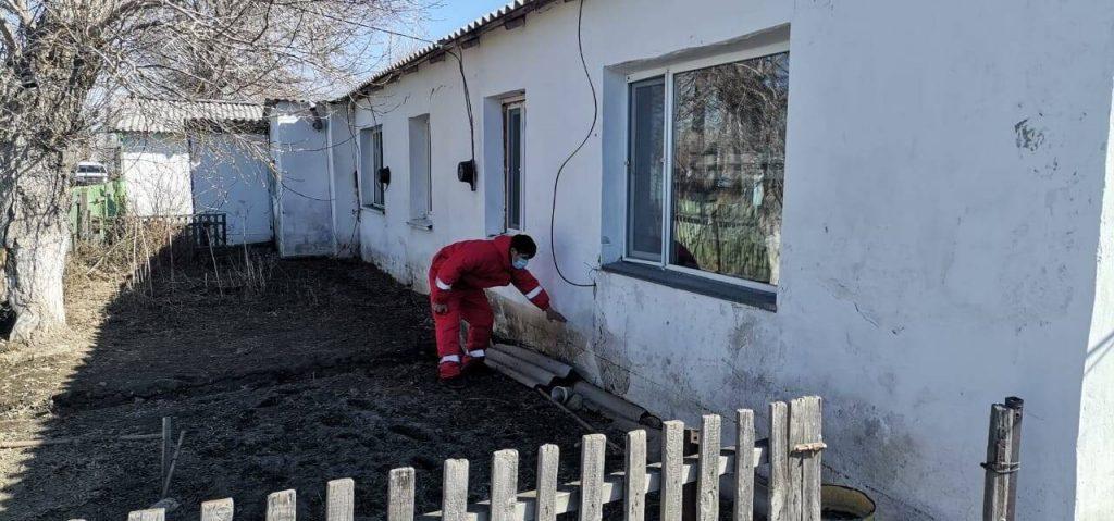 Maisons inondées