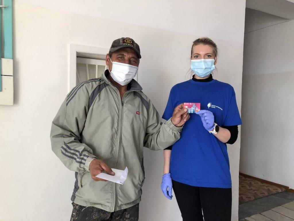 Des cartes d'aide ont été reçues par les habitants des maisons touchées